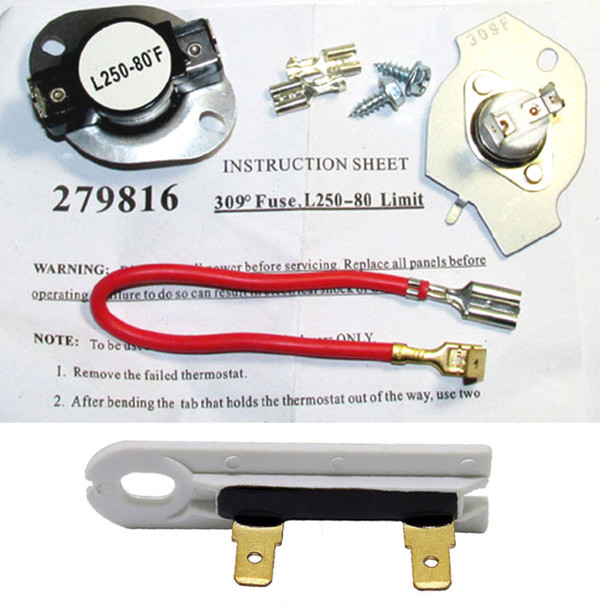 REX5634KQ1 Roper Dryer Thermostat Cut Off and Thermal Fuse Kit