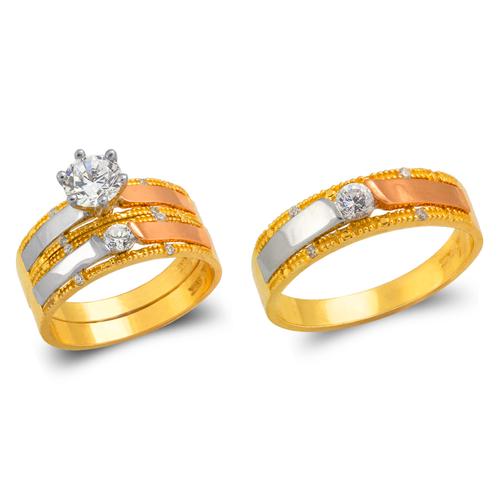 473-688TS Wedding Trio Ring Set