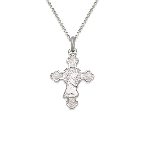 161-054W Communion Girl Cross Pendant