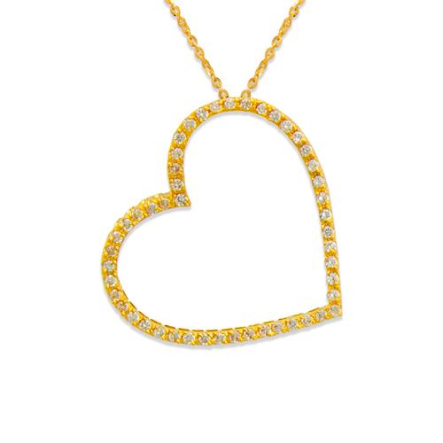 661-001 Heart CZ Pendant