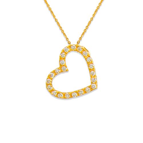 661-003 Heart CZ Pendant