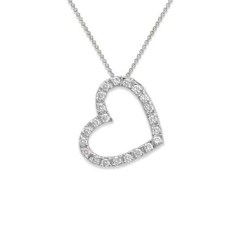 661-003W Heart CZ Pendant
