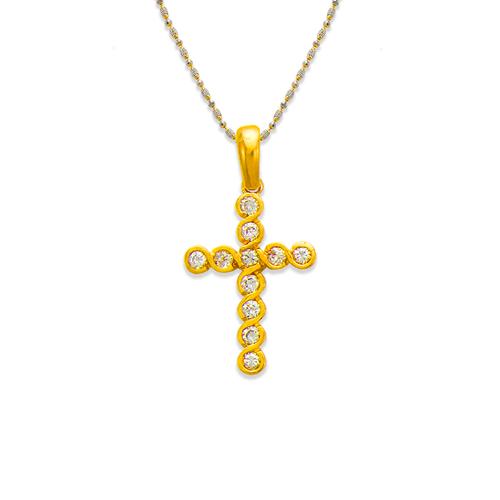 661-021 Cross CZ Pendant