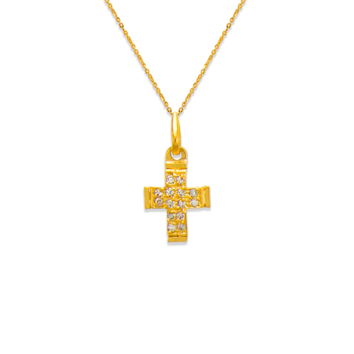 661-022 Cross CZ Pendant
