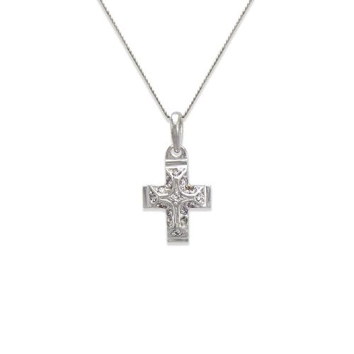 661-023W Cross CZ Pendant