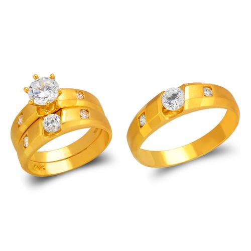 473-613S Wedding Trio Ring Set