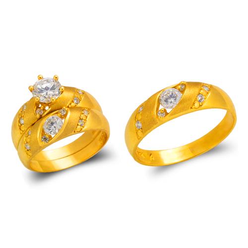 473-619S Wedding Trio Ring Set
