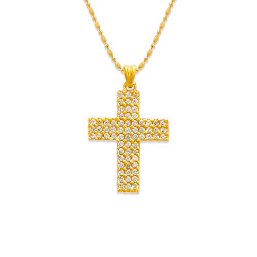 661-108 Cross CZ Pendant
