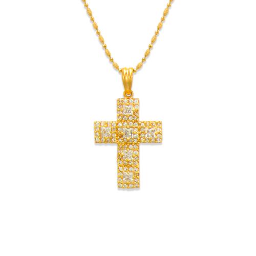 661-109 Cross CZ Pendant