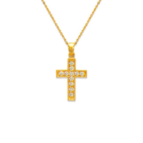 661-110 Cross CZ Pendant