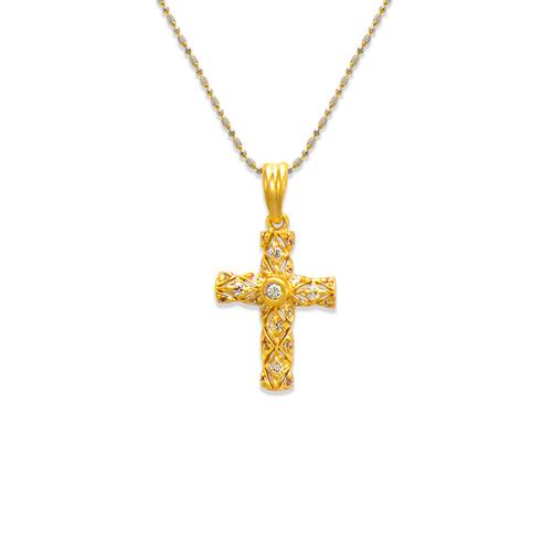 661-111 Cross CZ Pendant