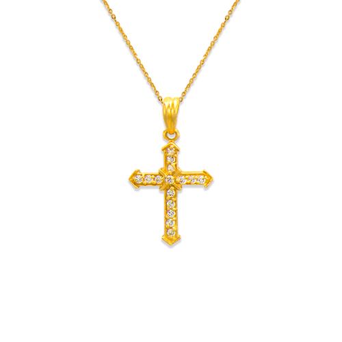 661-112 Cross CZ Pendant