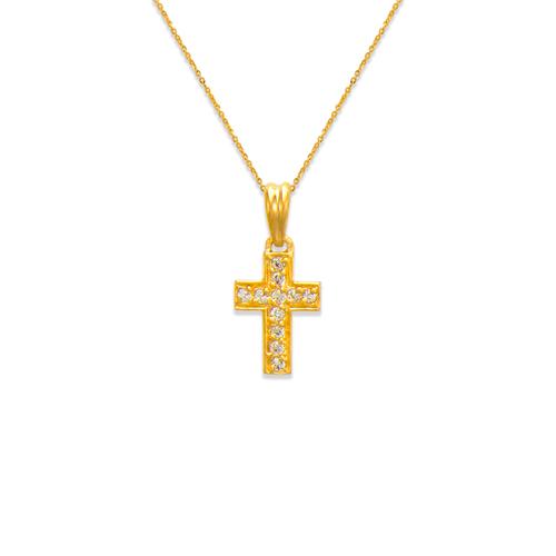 661-117 Cross CZ Pendant