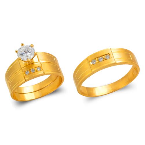 473-646S Wedding Trio Ring Set
