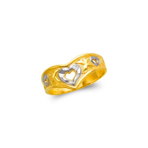 571-028 Ladies Heart Filigree Ring