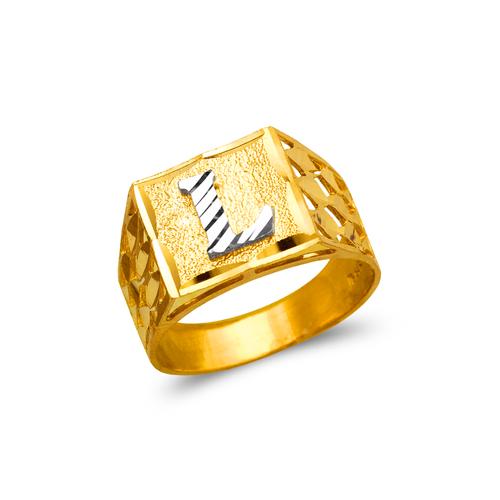 572-201 Mens Initial Ring