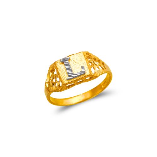 572-203 Ladies Initial Ring