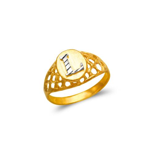 572-205 Ladies Initial Ring