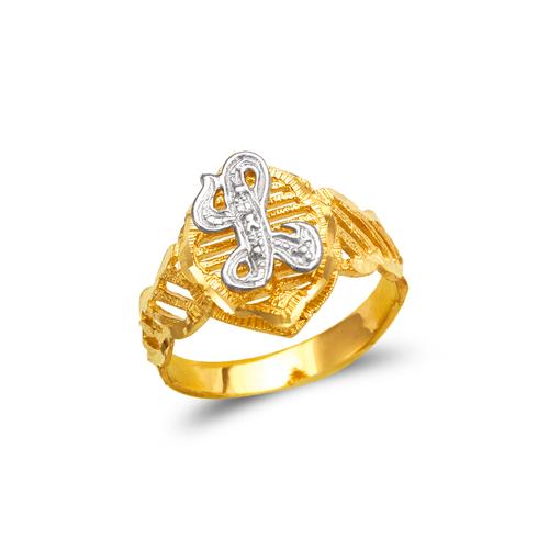 572-208 Mens Cursive Initial Ring
