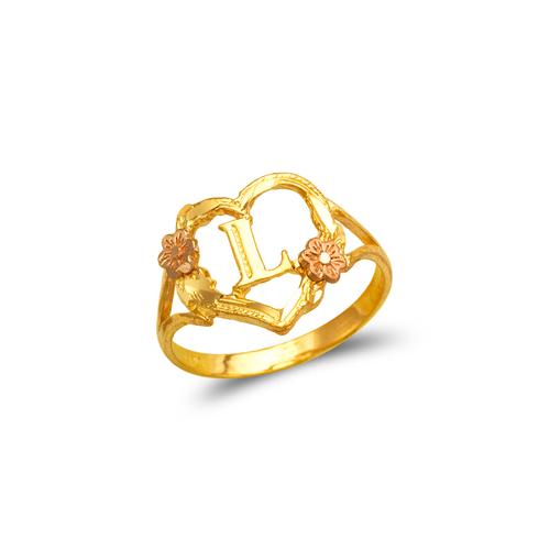 572-209 Ladies Initial Heart Ring