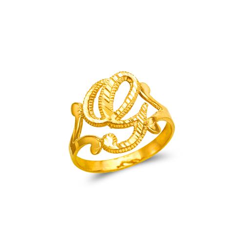 572-210 Ladies Cursive Initial Ring