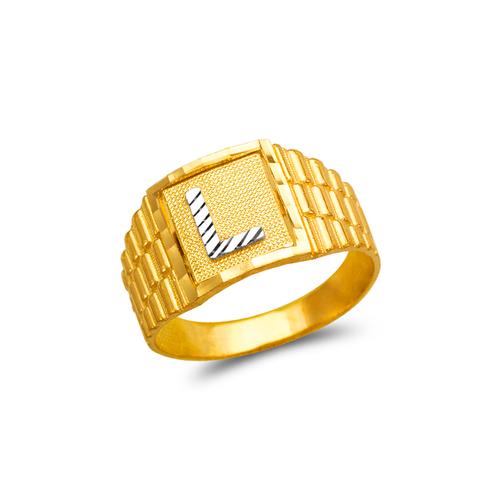 572-211 Mens Initial Ring