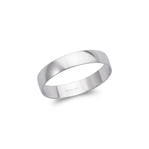 377-004W 4mm Plain White Stamping Wedding Band