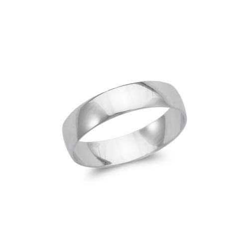 377-005W 5mm Plain White Stamping Wedding Band