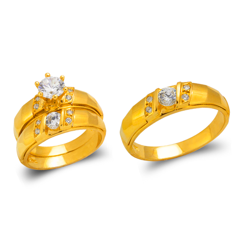 473-682S Wedding Trio Ring Set