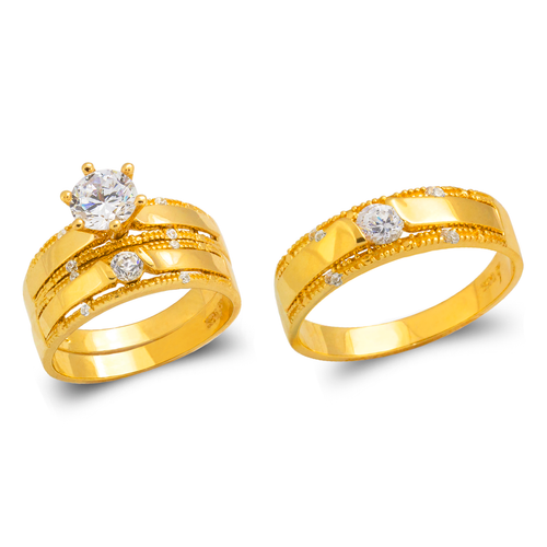 473-688S Wedding Trio Ring Set