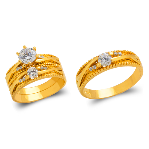473-694S Wedding Trio Ring Set