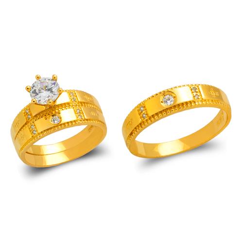 473-697S Wedding Trio Ring Set