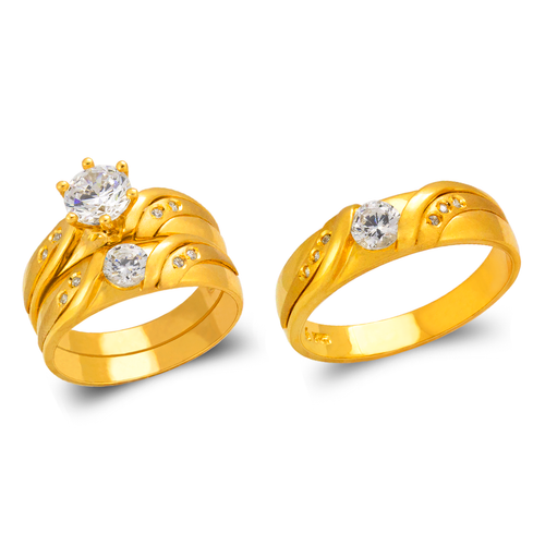 473-804S Wedding Trio Ring Set