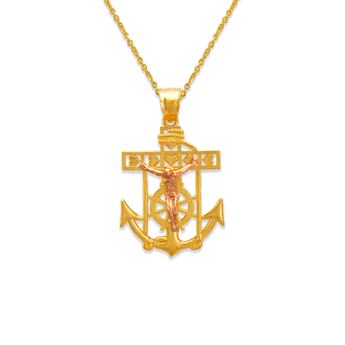 568-065A Jesus Anchor Pendant