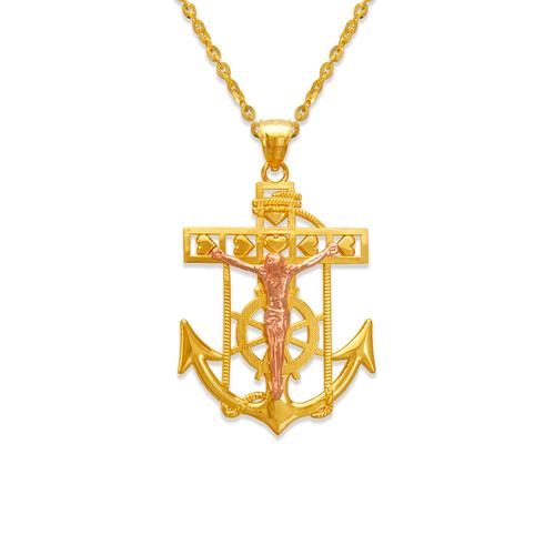 568-067A Jesus Anchor Pendant