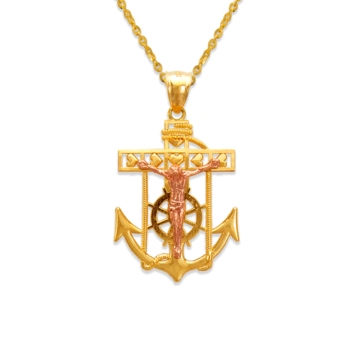 568-068A Jesus Anchor Pendant