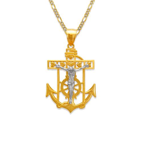 568-068B Jesus Anchor Pendant