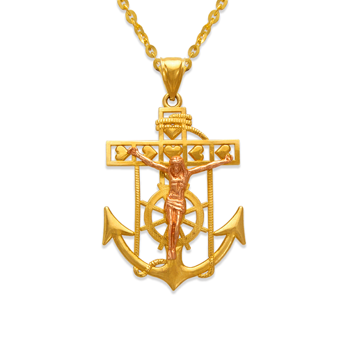 568-069A Jesus Anchor Pendant