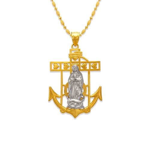 568-072B Guadalupe Anchor Pendant