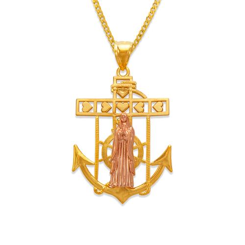 568-074A Virgin Mary Anchor Pendant