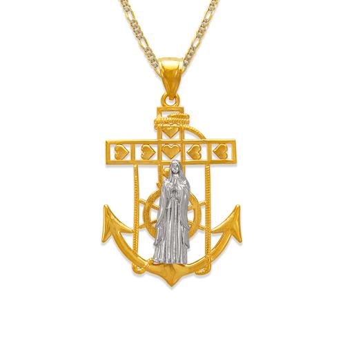 568-074B Virgin Mary Anchor Pendant
