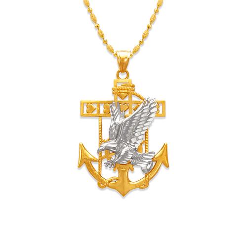 568-077 37mm Eagle Anchor Pendant