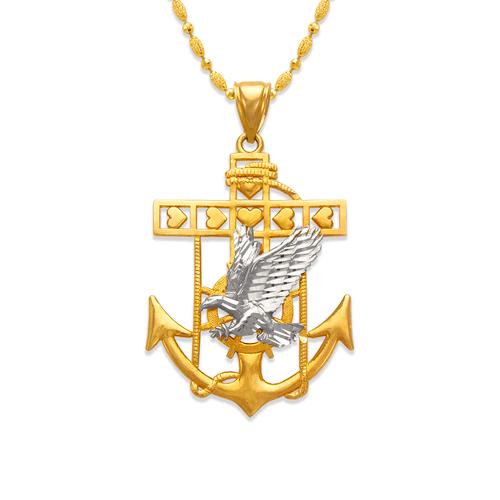 568-078 47mm Eagle Anchor Pendant