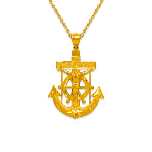 568-083 36mm Jesus Anchor Pendant