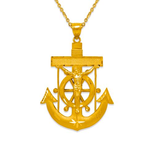 568-084 48mm Jesus Anchor Pendant
