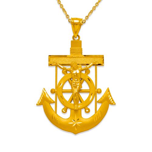 568-085 57mm Jesus Anchor Pendant