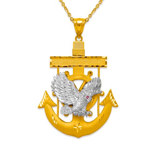 568-088 55mm Eagle Anchor Pendant