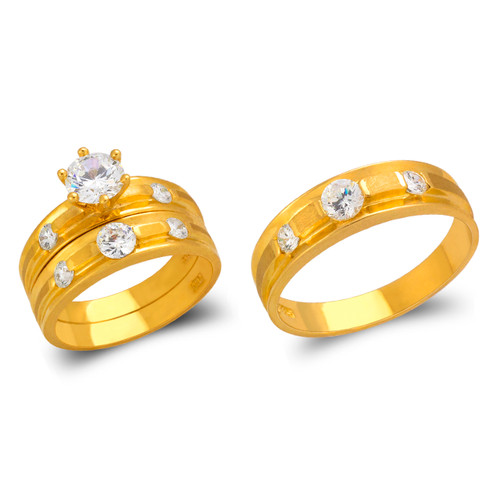 473-816S Wedding Trio Ring Set