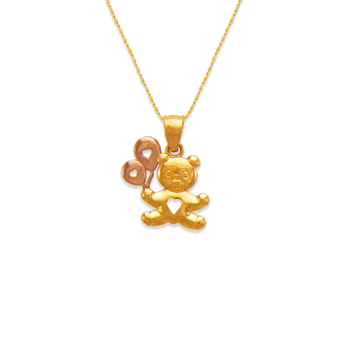 568-110 Bear with Balloons Pendant