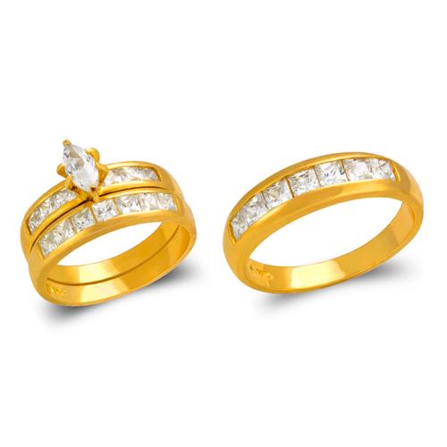 473-825S Wedding Trio Ring Set